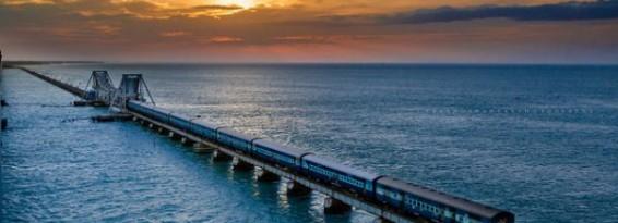 Mandapam Pamban Rameswaram sea bridge