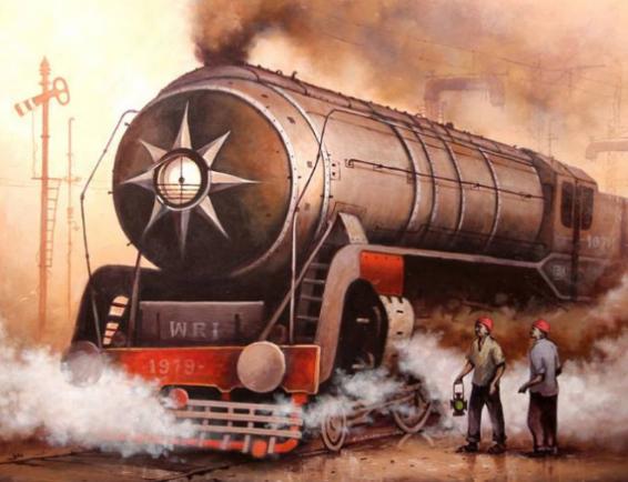 Steam locomotives by Pratim Biswas