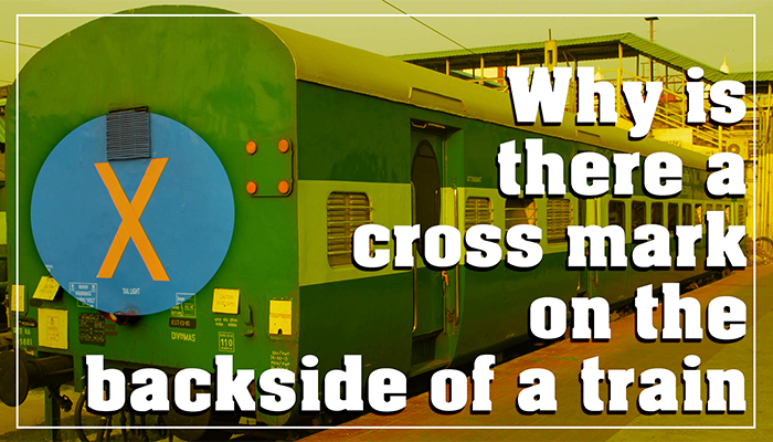 Meaning of Cross X symbol behind train